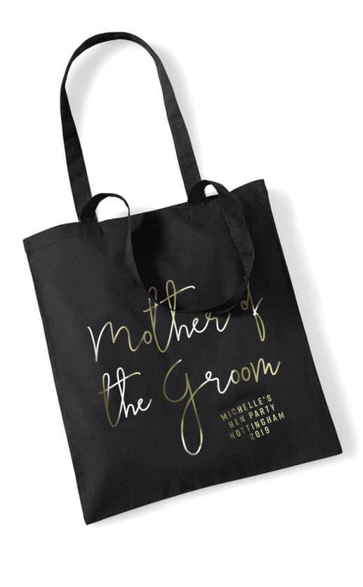Mother of the Groom Foil Hen Party Tote Bag