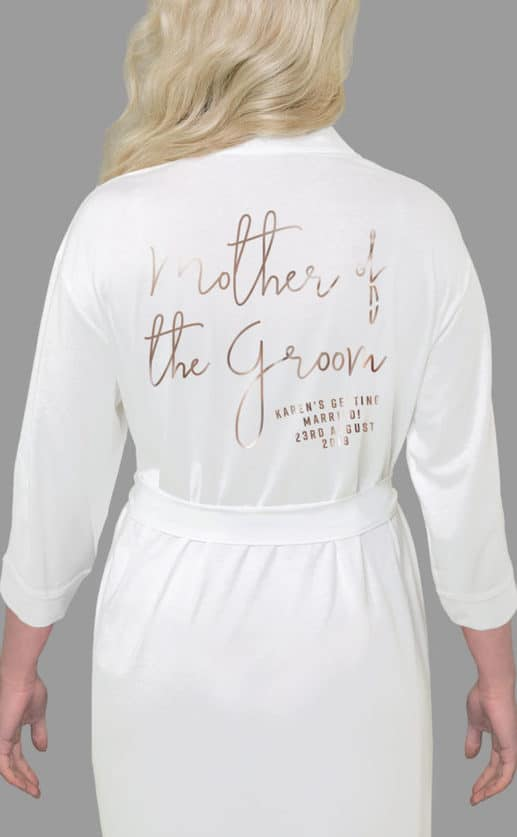 Mother of the Groom Foil Robe