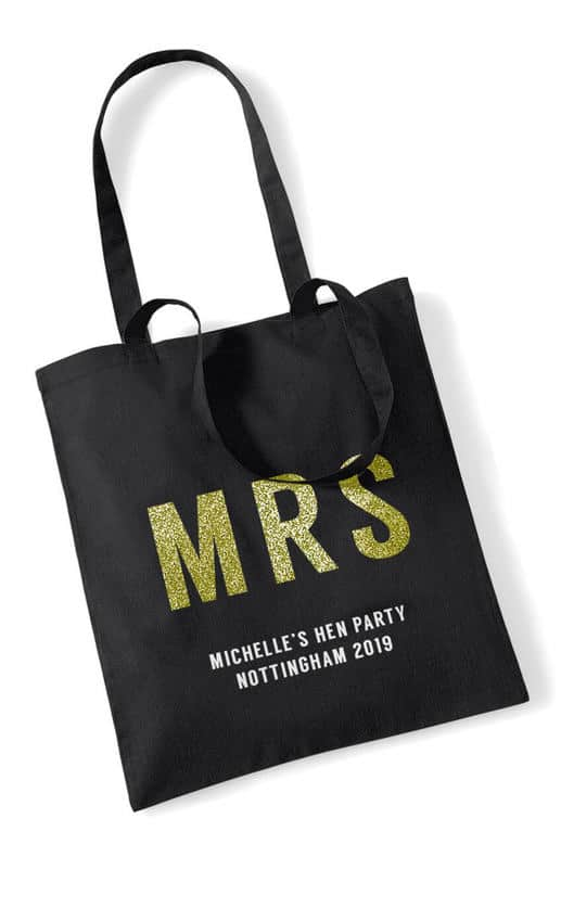 Mrs Bold Glitter Hen Party Tote Bag