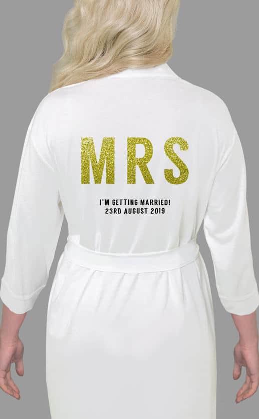 Mrs Bold Glitter Robe