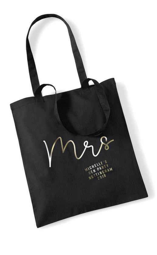 Mrs Foil Hen Party Tote Bag