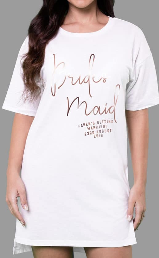 Bridesmaid - Personalised Oversize Tee
