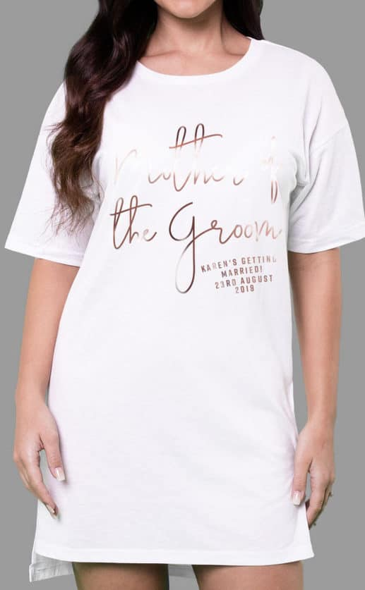 Mother of the Groom - Personalised Oversize Tee