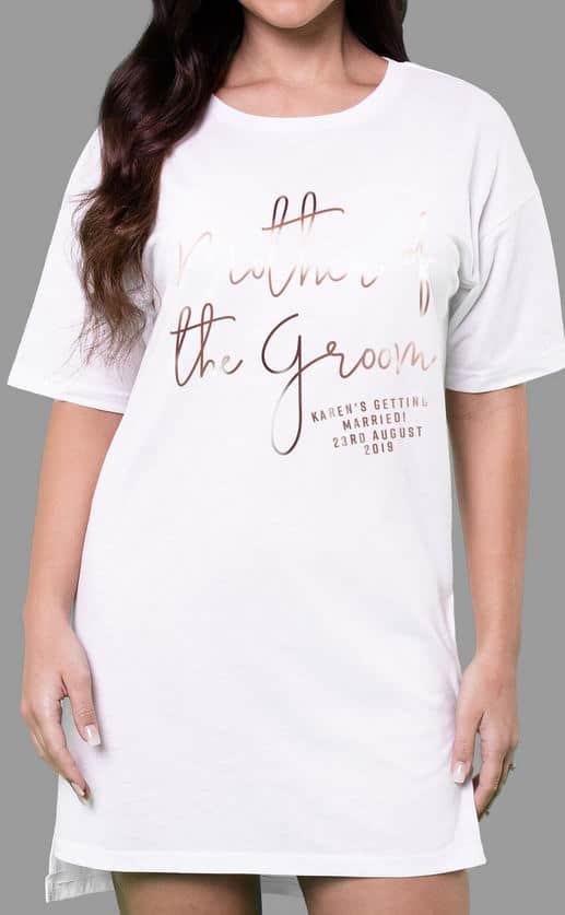 Mother of the Groom – Personalised Oversize Tee