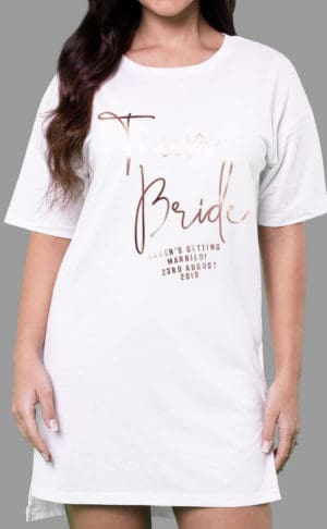 Team Bride - Personalised Oversize Tee