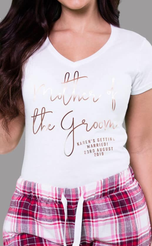 Mother of the Groom - Personalised Check Pyjama Set