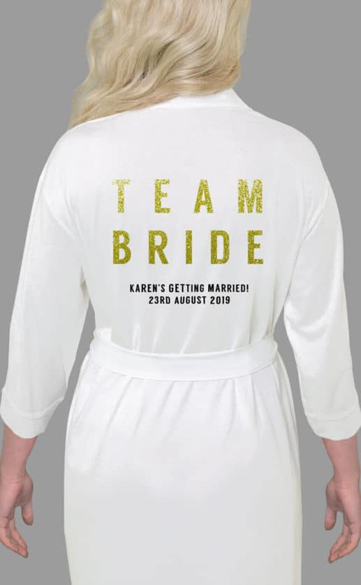 Team Bride Bold Glitter Robe