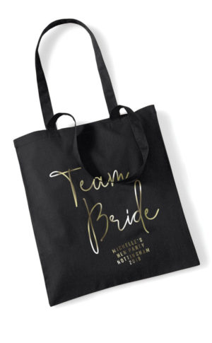 Team Bride Foil Hen Party Tote Bag