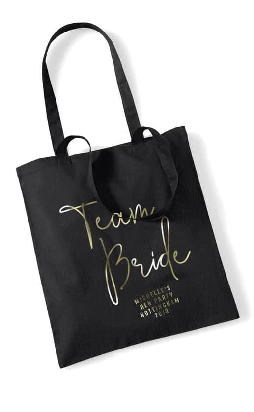TEAM BRIDE – FOIL SCRIPT TOTE BAG