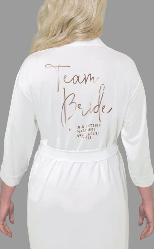 Team Bride Foil Robe