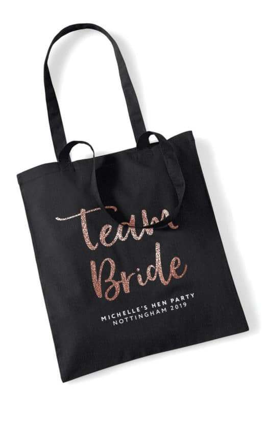 Team Bride Script Hen Party Tote Bag