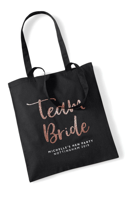 TEAM BRIDE – GLITTER SCRIPT TOTE BAG