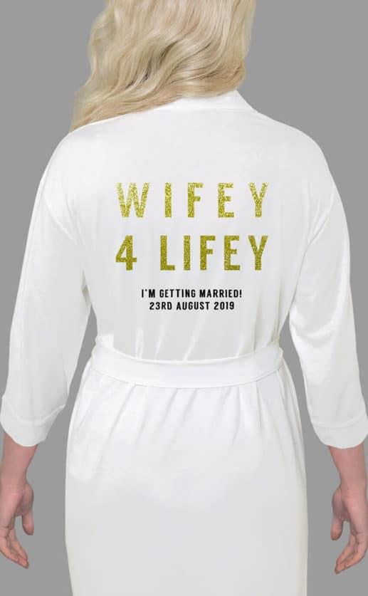 Wifey 4 Lifey Bold Glitter Robe