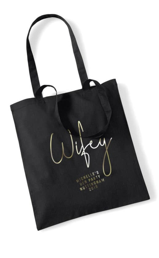 Wifey Foil Hen Party Tote Bag