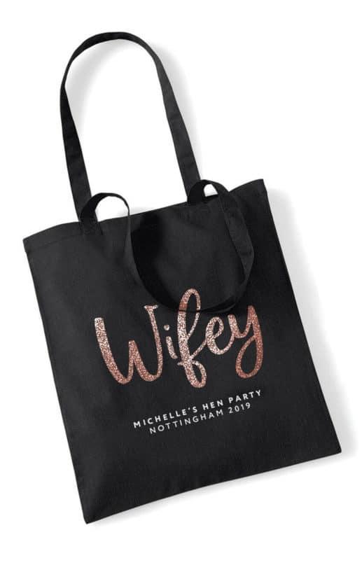 Wifey Script Hen Party Tote Bag