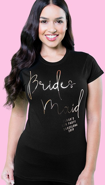 Free delivery  Hen Do Party Bridesmaid Bride 2019  T-shirt Ladies Female