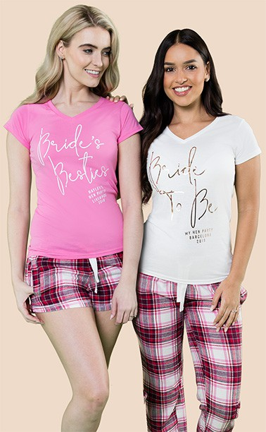 Personalised Bride To Be PJs & Hen Party Pyjamas